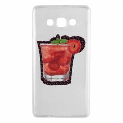 Чехол для Samsung A7 2015 Strawberry cocktail on a background of flowers