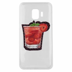 Чохол для Samsung J2 Core Strawberry cocktail on a background of flowers