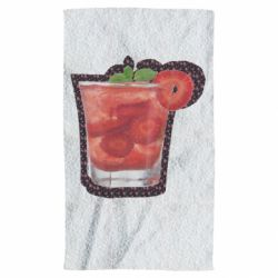 Рушник Strawberry cocktail on a background of flowers