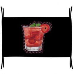 Прапор Strawberry cocktail on a background of flowers