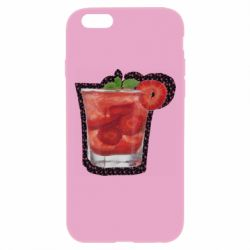Чохол для iPhone 6 Plus/6S Plus Strawberry cocktail on a background of flowers