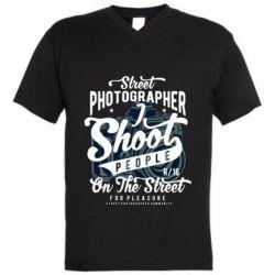 Чоловіча футболка з V-подібним вирізом Street Photographer