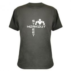 Камуфляжная футболка Street Workout крест - FatLine