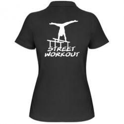 Женская футболка поло Street workout - FatLine