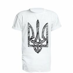 Удлиненная футболка Striped coat of arms
