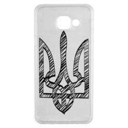 Чехол для Samsung A3 2016 Striped coat of arms