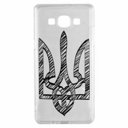 Чехол для Samsung A5 2015 Striped coat of arms
