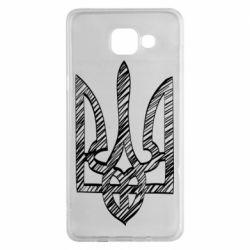 Чехол для Samsung A5 2016 Striped coat of arms