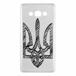 Чехол для Samsung A7 2015 Striped coat of arms