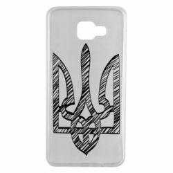 Чехол для Samsung A7 2016 Striped coat of arms