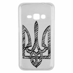 Чехол для Samsung J1 2016 Striped coat of arms