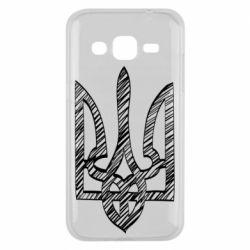 Чехол для Samsung J2 2015 Striped coat of arms