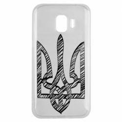 Чехол для Samsung J2 2018 Striped coat of arms