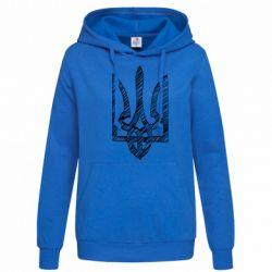 Женская толстовка Striped coat of arms
