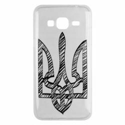 Чехол для Samsung J3 2016 Striped coat of arms
