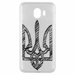 Чехол для Samsung J4 Striped coat of arms