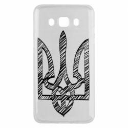 Чехол для Samsung J5 2016 Striped coat of arms