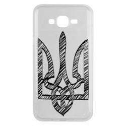 Чехол для Samsung J7 2015 Striped coat of arms
