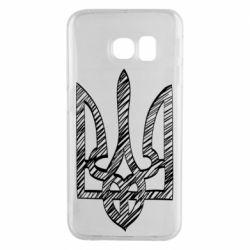 Чехол для Samsung S6 EDGE Striped coat of arms