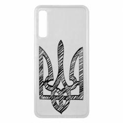 Чехол для Samsung A7 2018 Striped coat of arms