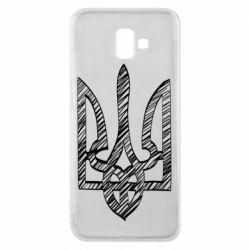 Чехол для Samsung J6 Plus 2018 Striped coat of arms