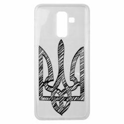 Чехол для Samsung J8 2018 Striped coat of arms