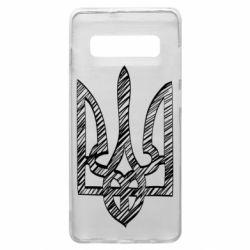 Чехол для Samsung S10+ Striped coat of arms