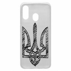 Чехол для Samsung A40 Striped coat of arms
