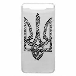 Чехол для Samsung A80 Striped coat of arms