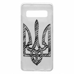 Чехол для Samsung S10 Striped coat of arms