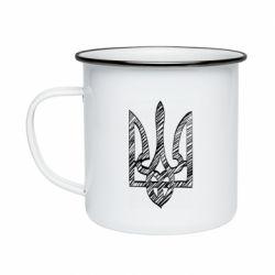 Кружка эмалированная Striped coat of arms