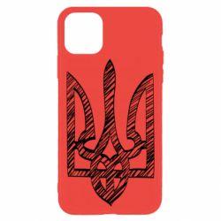 Чехол для iPhone 11 Pro Striped coat of arms