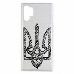 Чехол для Samsung Note 10 Plus Striped coat of arms