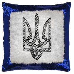 Подушка-хамелеон Striped coat of arms