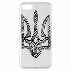 Чехол для iPhone 7 Striped coat of arms