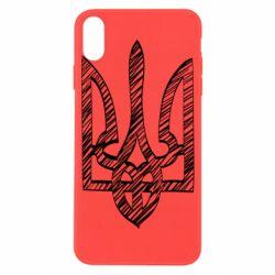 Чехол для iPhone X/Xs Striped coat of arms