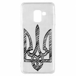 Чехол для Samsung A8 2018 Striped coat of arms