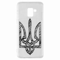 Чехол для Samsung A8+ 2018 Striped coat of arms