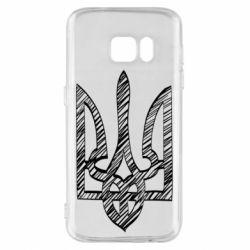 Чехол для Samsung S7 Striped coat of arms