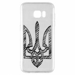 Чехол для Samsung S7 EDGE Striped coat of arms