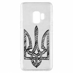 Чехол для Samsung S9 Striped coat of arms