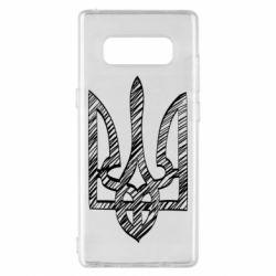 Чехол для Samsung Note 8 Striped coat of arms