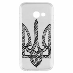 Чехол для Samsung A3 2017 Striped coat of arms