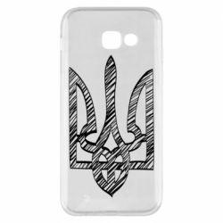 Чехол для Samsung A5 2017 Striped coat of arms