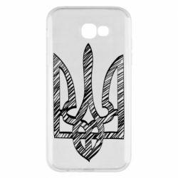 Чехол для Samsung A7 2017 Striped coat of arms