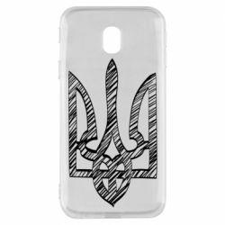 Чехол для Samsung J3 2017 Striped coat of arms