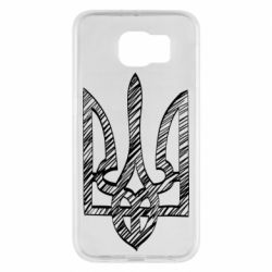 Чехол для Samsung S6 Striped coat of arms