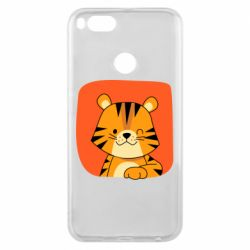 Чехол для Xiaomi Mi A1 Striped tiger with smile