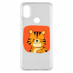 Чехол для Xiaomi Mi A2 Striped tiger with smile