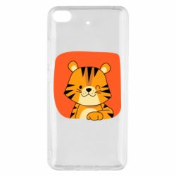 Чехол для Xiaomi Mi 5s Striped tiger with smile
